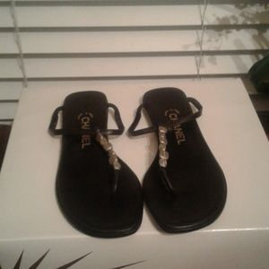 Authentic gorgeous chanel sandals pre owned and in
